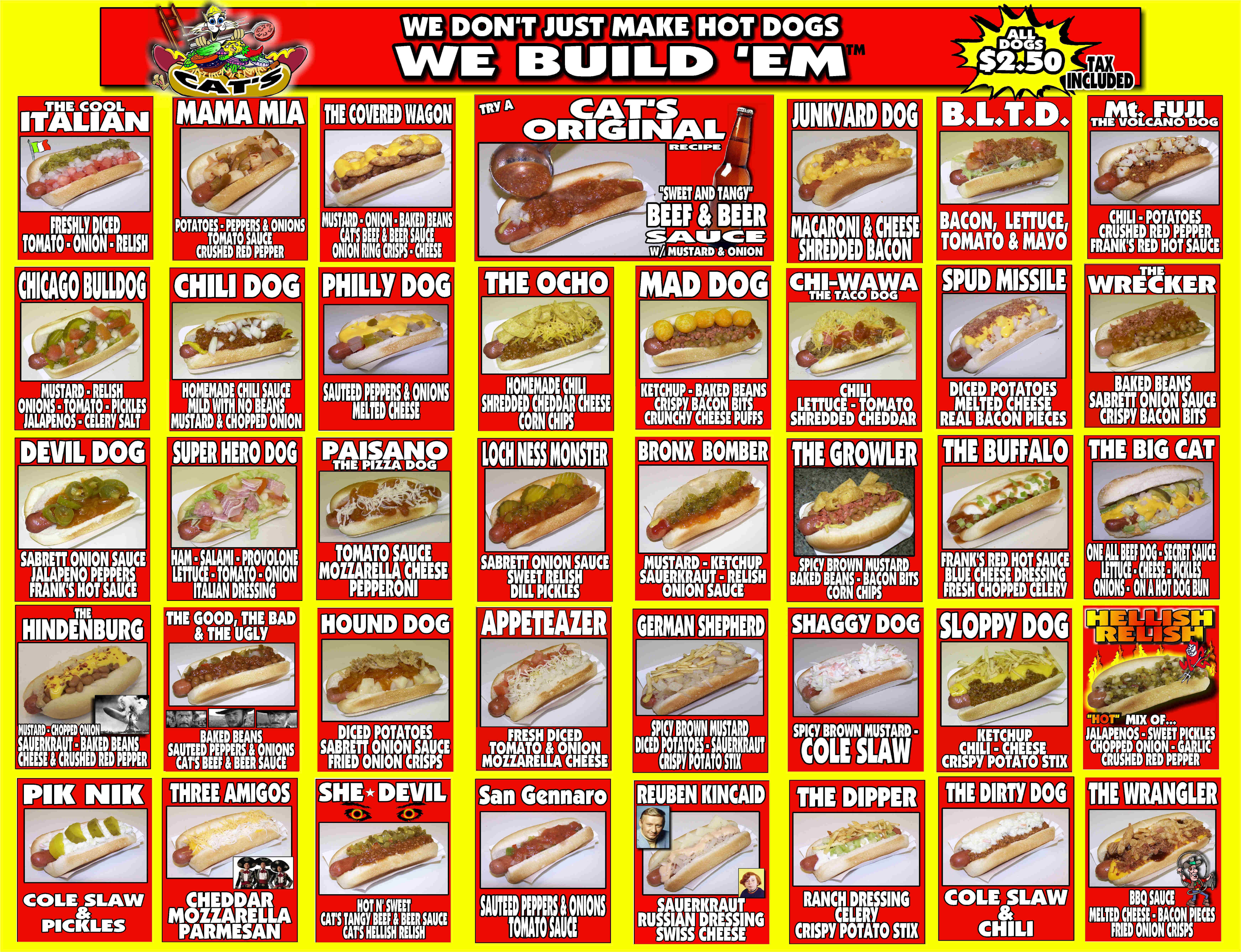 Hot Dogs Menu Party